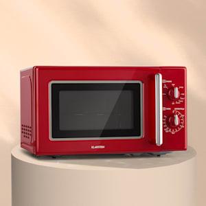 Klarstein Caroline kuchenka mikrofalowa 20l 700 / 1000 W Ø25,6cm QuickSelect retro czerwona