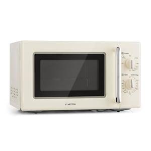 Caroline, mikrovlnná rúra, 20 l, 700/1000 W, Ø 25,5 cm, QuickSelect, retro, krémová