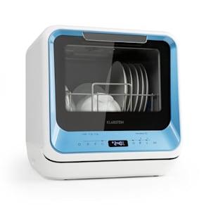 Amazonia Mini Geschirrspülmaschine 6 Programme LED-Display blau