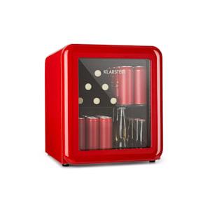 PopLife, chladnička na nápoje, chladnička, 48 litrov, 0 - 10 °C, retro dizajn, červená