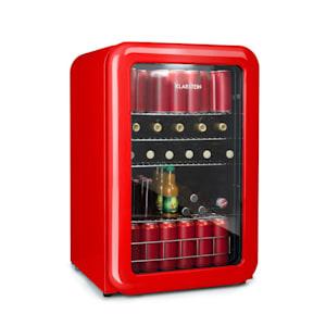 PopLife, chladnička na nápoje, chladnička, 115 litrů, 0 - 10 °C, retro design, červená