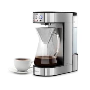 Perfect Brew Kaffeemaschine 1800W Glaskanne Edelstahl silber