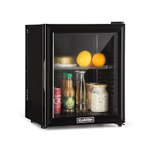 Brooklyn 32 Minibar mini fridge | thermoelectric cooling system | 32 litre capacity | 3-stage cooling: up to 15 °C | <em>EcoExcellence System</em> | EEC F | low noise: 23 dB | flexible plastic base | LED light | panorama glass door
