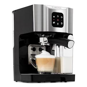 BellaVita Machine à café 1450W 1,4L 20bars mousseur de lait 0,4L gris