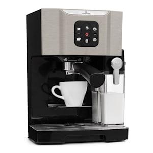 Klarstein BellaVita Kaffemaskin, 1450 W, 20 Bar, Mjölkskummare, 3in1, grå