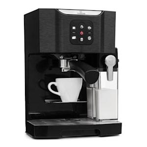 Klarstein BellaVita Kaffemaskin, 1450 W, 20 Bar, Mjölkskummare, 3in1, svart