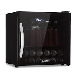 Beersafe L Onyx koelkast drankkoelkast | volume: 47 liter | 2 metalen schappen | instelbare interne temperatuur van 0 tot 13 °C | draaiknop | dubbel geïsoleerde glazen deur | vrijstaand | led