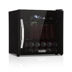 Beersafe L Onyx, chladnička na nápoje, A+, LED, kovové rošty, sklenené dvere, čierna
