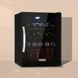 Klarstein Beersafe XL Onyx Frigorífico A++ LED 4 rejillas de metal Puerta de cristal