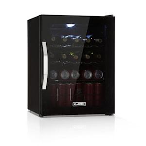 Beersafe XL Onyx Réfrigérateur à boissons | volume : 60 litres | 4 clayettes métalliques | température intérieure réglable de 0 à 13 °C | interrupteur rotatif | porte en double vitrage | sur pied | LED