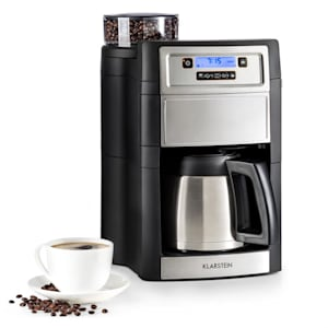 Aromatica II Thermo Cafetière 1,25L + broyeur 1000W thermos - argent