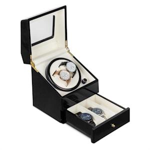 Geneva, naťahovač na hodinky, 2 hodiniek, 4 režimy, zásuvka, čierny