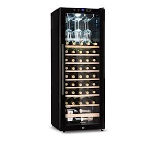 Barossa 54S Weinkühlschrank 148 L 54 Flaschen Glastür Touch LED schwarz