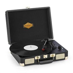 Peggy Sue Plattenspieler Stereolautsprecher USB-Anschluss schwarz/gold