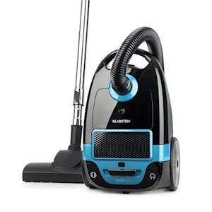 Mister Eco, usisavač, 450 W, HEPA13, klasa energetske učinkovitosti A++, crno/plava