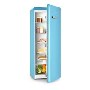 Irene XL, chladnička, 242 l, retro design, 4 poličky, A+, modrá