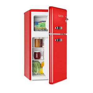 Irene, retro chladnička s mrazničkou, 61 l chladnička, 24 l mraznička, červená