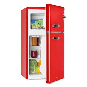 Irene, retro chladnička s mrazničkou, 61 l chladnička, 24 l mrazák, červená