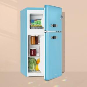 Irene, chladnička s mrazničkou, 61 l chladnička, 24 l mrazák, modrá