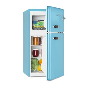 Irene, retro hladnjak sa zamrzivačem, 61 l hladnjak, 24 l zamrzivač, plavi