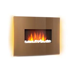 Curved Copper L&F 1000/2000W Curved Glass Panel Fernbedienung Kupfer