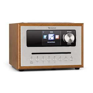Silver Star CD Cube Radio Bluetooth HCC écran bois marron