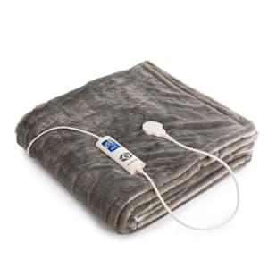 Dr. Watson SuperSoft Electric Blanket 120W 180x130cm Teddy Plush Cream / Grey