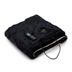 Dr. Watson SuperSoft, výhřevná deka, 120 W, 180 x 130 cm, chlupatý plyš, béžová / tmavěmodrá