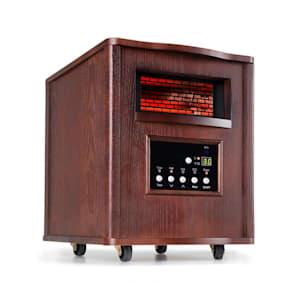 Heatbox radiateur infrarouge 1500 W minuterie 12 h télécommande noyer foncé