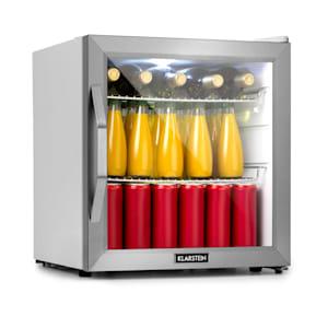 Beersafe L Crystal White, chladnička A+, LED, 2 kovové rošty, sklenené dvere, biela
