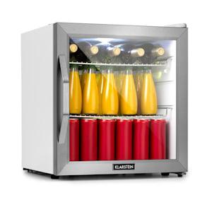Beersafe L Crystal White, hűtőszerkény, A+, LED, 2 fém polc, üvegajtó, fehér