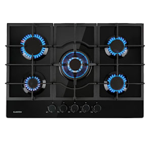 Ignito table de cuisson à gaz 5 zones 5 brûleurs Sabaf vitrocéramique noir