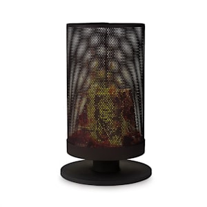 Ithaka Feuerschale Feuerkorb aus Stahl stabiler Stand schwarz