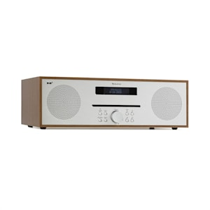 Silver Star CD-DAB 2x20W max. Slot-In CD-Player DAB+ BT Alu braun