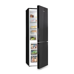 Luminance Frost, kombinált hűtőszekrény, 300 l, A+, 4 üvegpolc, fekete
