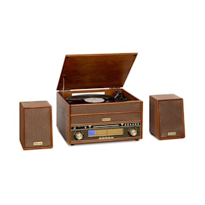 Belle Epoque 1910 Retro Stereo Turntable Record Player CD Player Speakers