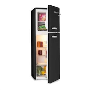 Audrey, hűtőszekrény fagyasztóval, 90 l/39 l, retró külső, fekete