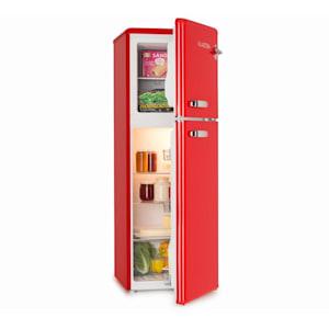 Audrey, hűtőszekrény fagyasztóval, 90 l/39 l, retró külső, piros