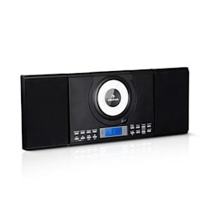 Wallie Microsystem CD-Player Bluetooth USB-Port Fernbedienung schwarz