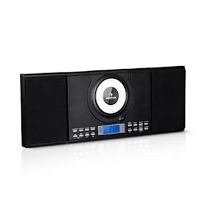 Wallie Microsystem Lettore CD Bluetooth Porta USB Telecomando bianco auna Wallie Microsystem Lettore CD Bluetooth Porta USB Telecomando nero