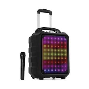 """Moving 80.1 LED PA System 8"""" Woofer 100 W Max. UHF Mic USB SD BT AUX Mobile"""