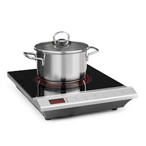 MisterCook hotplate infrared hob | ceramic hob | 2000 Watt | 8 power and temperature settings | LED display | switch-off timer | child safety lock | overheating protection