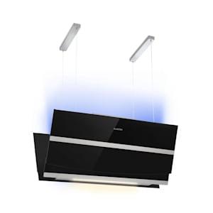 Prism, hotă pentru aburi, 720 m³/h, timer, afișaj LCD, RGB-culori, negru