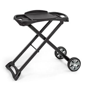 Parforce Stand Grilltisch | Zubehör für Parforce One/Duo | 2 PE-Räder | zusammenklappbar | Material: pulverbeschichteter Stahl | schwarz