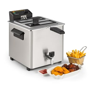 Family Fry friteerauskone 3000w Oil Drain Technology teräs hopea