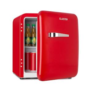 Audrey Mini Retro Fridge Mini fridge drinks fridge | energy efficiency class F | 48 litre capacity | 2 levels | cooling temperature: 0 - 10 °C | VintAge Concept: 50s retro style | bottle compartment & egg tray