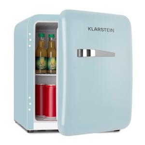 Audrey Mini Frigorífico Retro Frigorífico de bebidas | Classe de eficiência energética F | Capacidade de 48 litros | 2 níveis | Temperatura de arrefecimento: 0 - 10 °C | Conceito VintAge: estilo retro dos anos 50 | Compartimento para garrafas e para ovos