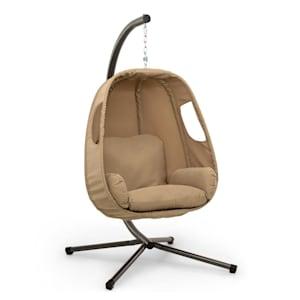 Bella Donna hangstoel zitkussen 180g polyester beige