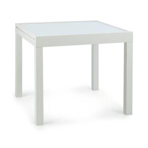 Pamplona Extension tavolo da giardino 180 x 83 cm max. alluminio vetro bianco