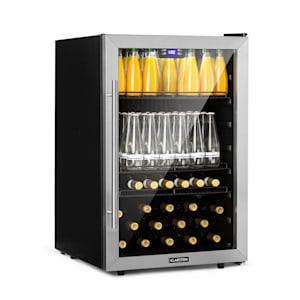 Beersafe 5XL koelkast drankkoelkast | Volume: 148 liter | 3 inlegplateaus | Per graad instelbare binnentemperatuur van 0 tot 20 °C | Dubbel geïsoleerde glazen deur | Vrijstaand | Led | Front van rvs